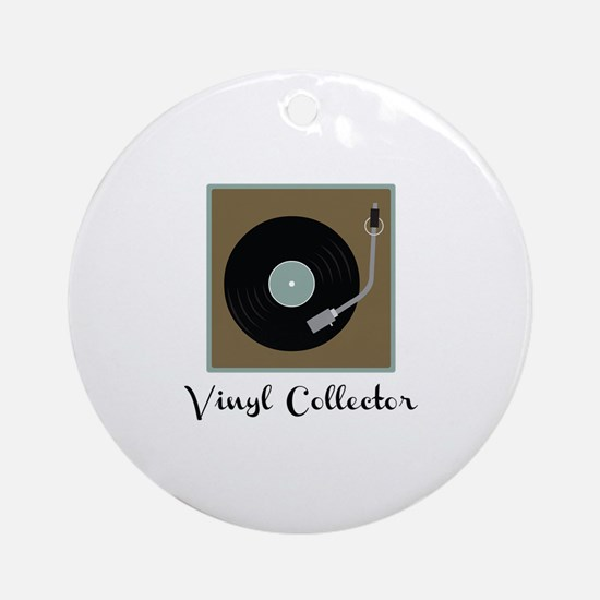 Vinyl Collector Ornament (Round)