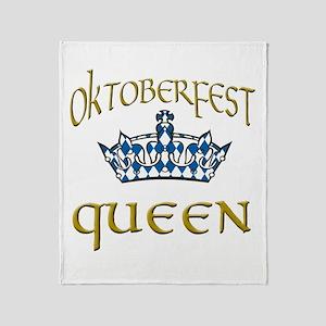 Oktoberfest Queen Crown Throw Blanket