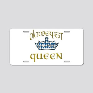 Oktoberfest Queen Crown Aluminum License Plate