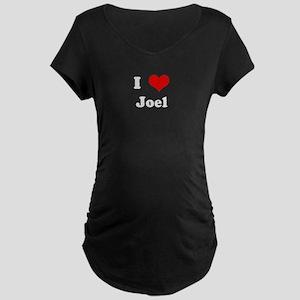 I Love Joel Maternity Dark T-Shirt
