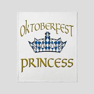 Oktoberfest Princess Crown Throw Blanket