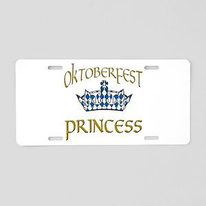 Oktoberfest Princess Crown Aluminum License Plate