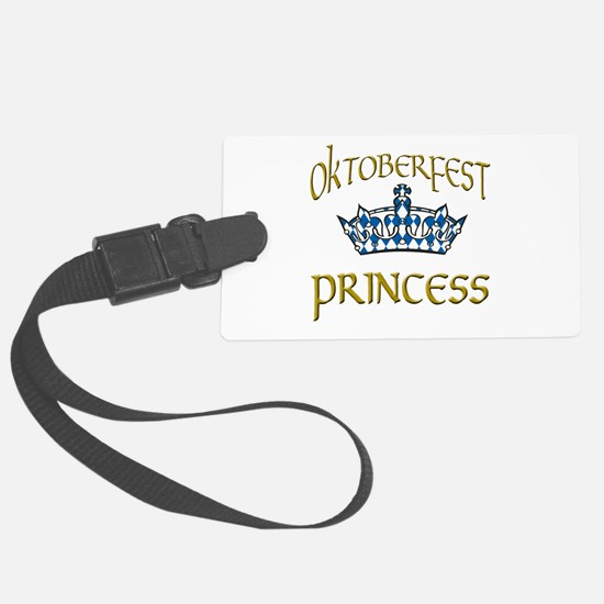 Oktoberfest Princess Crown Luggage Tag