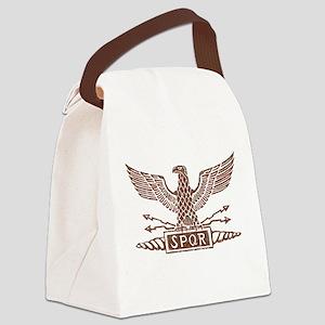 Roman Eagle Tshirt Distressed1 Canvas Lunch Ba