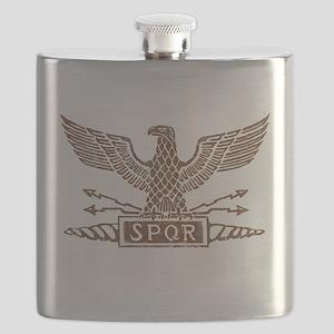 Roman Eagle Tshirt Distressed1 Flask