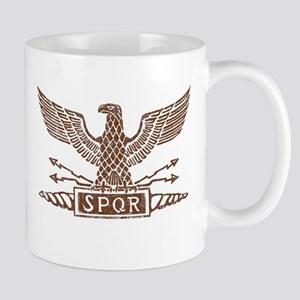 Roman Eagle Tshirt Distressed1 Mugs