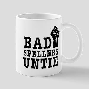 bad spellers untie Mugs
