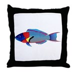 Saddle Wrasse Throw Pillow