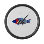 Saddle Wrasse Large Wall Clock
