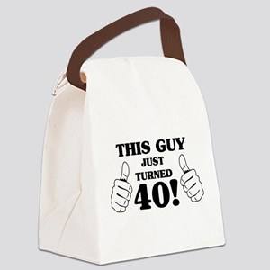 This Guy Just Turned 40! Canvas Lunch Bag