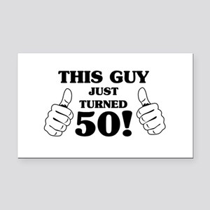 This Guy Just Turned 50! Rectangle Car Magnet