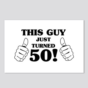 This Guy Just Turned 50! Postcards (Package of 8)