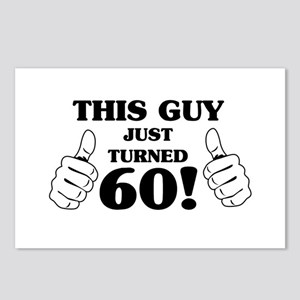 This Guy Just Turned 60! Postcards (Package of 8)