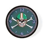 Football Skull Wall Clock