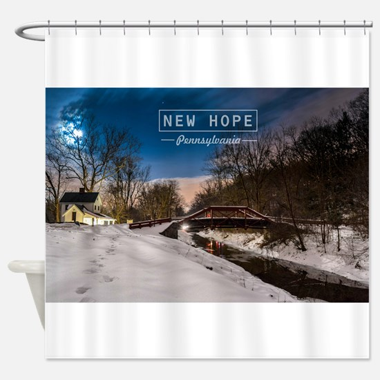New Hope PA. Shower Curtain