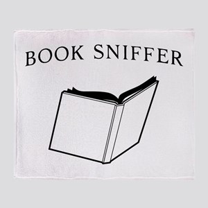 book sniffer Throw Blanket