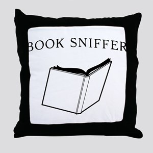 book sniffer Throw Pillow
