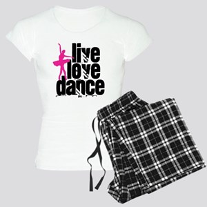 Live, Love, Dance with Ballerina Pajamas