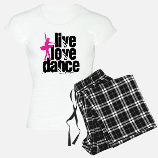 Live, Love, Dance with Ballerina Pajamas