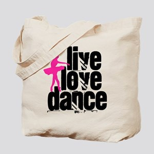 Live, Love, Dance with Ballerina Tote Bag