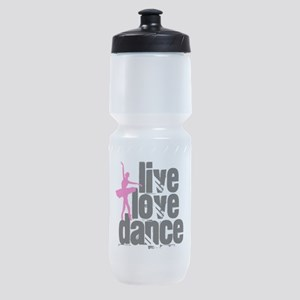 Live, Love, Dance with Ballerina Sports Bottle