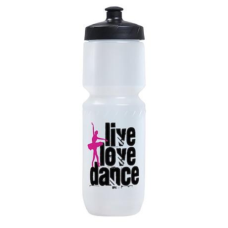 Live, Love, Dance with Ballerina Sports Bottle
