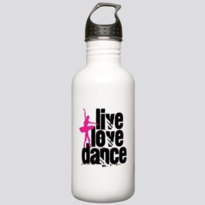 Live, Love, Dance with Ballerina Water Bottle