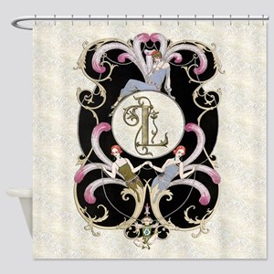 Monogram L Barbier Cabaret Shower Curtain