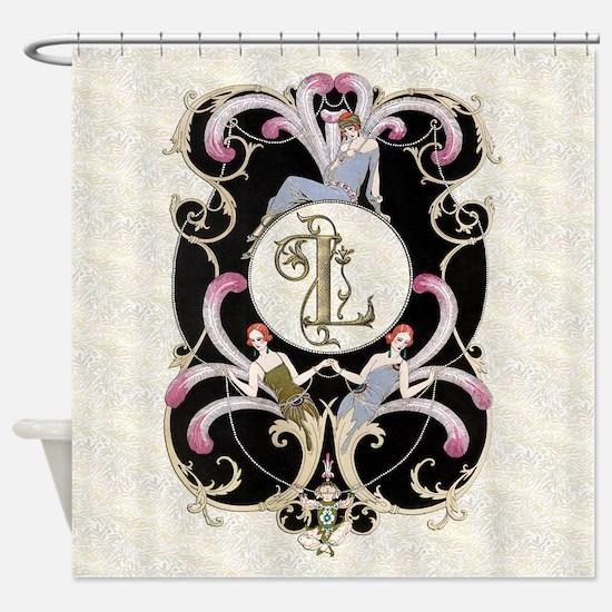 Monogram L Barbier Cabaret Shower Curtain