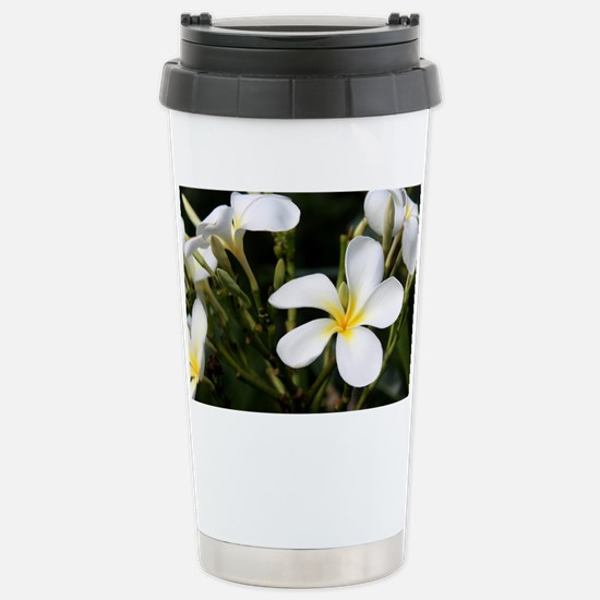 Hawaiian Flower Stainless Steel Travel Mug