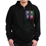 The WooFPAK 4 Peace, Love, Music Zip Hoodie