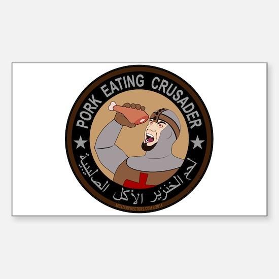 Pork Eating Crusader Sticker (Rectangle)