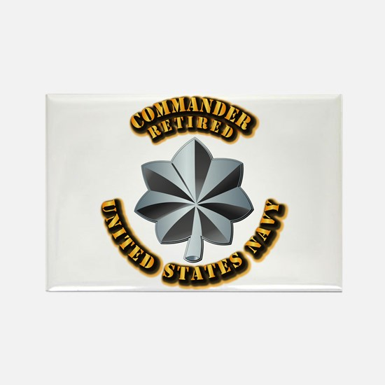 Navy - Commander - O-5 - V1 - Ret Rectangle Magnet