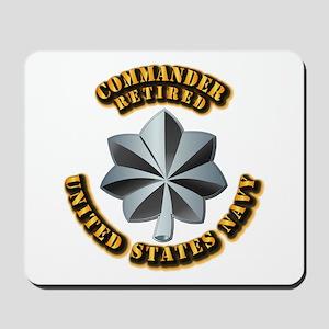 Navy - Commander - O-5 - V1 - Retired Te Mousepad