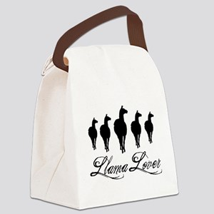 Llamas Llama Lover Canvas Lunch Bag