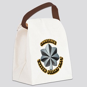 Navy - Commander - O-5 - V1 - w T Canvas Lunch Bag