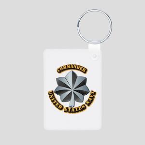 Navy - Commander - O-5 - V Aluminum Photo Keychain