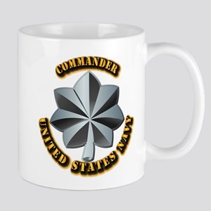 Navy - Commander - O-5 - V1 - w Text Mug