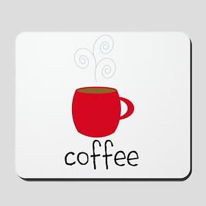 Red Coffee Mug Mousepad