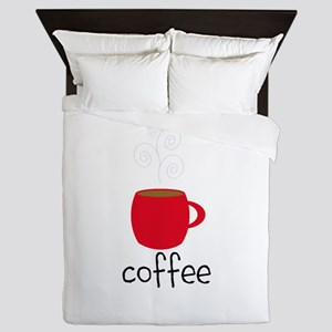 Red Coffee Mug Queen Duvet