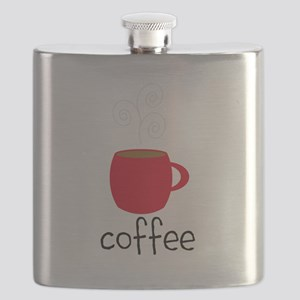 Red Coffee Mug Flask