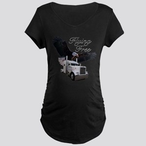 Flying Free Maternity Dark T-Shirt