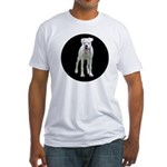 White boxer Fitted T-Shirt