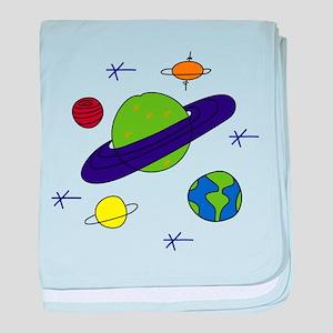 Saturn Mars Astronomy baby blanket