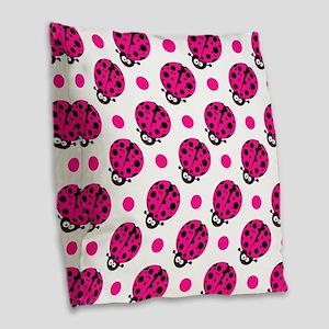 Cute Ladybug, Neon Hot Pink White Polka Dots Burla