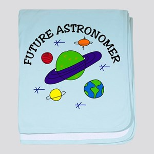 Saturn Mars Astronomy Planets Earth baby blanket