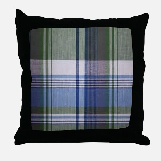 comfortable plaid Throw Pillow