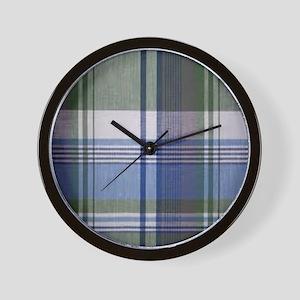 comfortable plaid Wall Clock