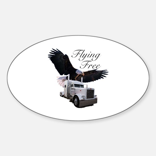 Flying Free Oval Decal