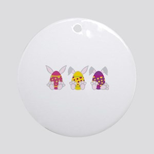 Hoppy Easter Ornament (Round)